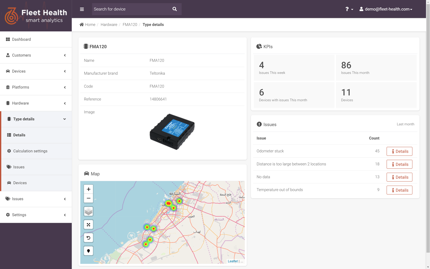 fleet health dashboard